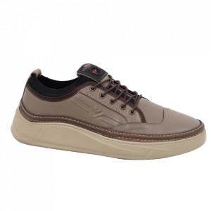 Pantofi din piele naturală pentru bărbați cod 9202 Vizon