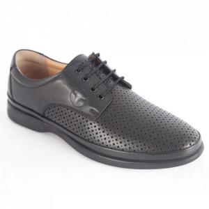 Pantofi din piele naturală pentru bărbați cod C8262-1 Black