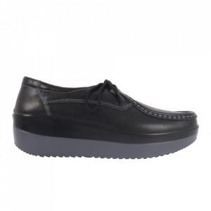 Pantofi din piele naturală pentru dame cod 1136 Black