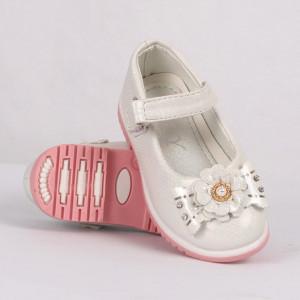 Pantofi pentru fete cod CP67 Albi