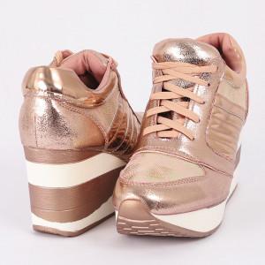 Pantofi Sport Alice Cod 456 - Pantofi sport din piele ecologică lăcuită cu platformă Foarte comfortabili - Deppo.ro
