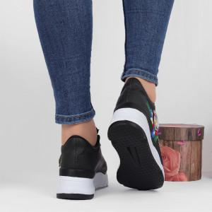 Pantofi Sport Cod 649 - Pantofi sport din piele ecologică  cu platformă  Închidere prin șiret  Model înflorat deosebit de frumos  Foarte comfortabili - Deppo.ro