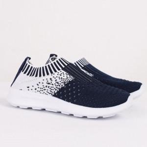 Pantofi sport cod CP75 Albastru închis - Pantofi sport din material textil cu talpă din spumă și închidere cu scai - Deppo.ro