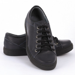 Pantofi sport din piele naturală bleumarin Cod 1258