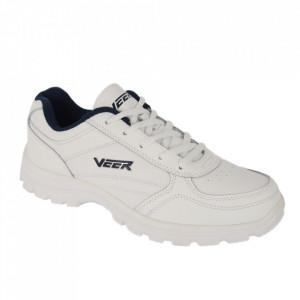 Pantofi sport din piele naturală pentru bărbați cod 9223B Alb