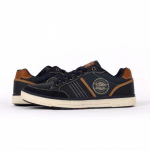 Pantofi Sport pentru bărbați cod A9271-2 Navy - Pantofi sport pentru bărbaţi, model cu un design deosebit ideali pentru o ținută sport casual - Deppo.ro