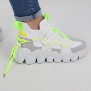 Pantofi Sport pentru dame cod H26-1 White/Green