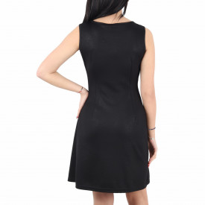 Rochie Aleena Black - Rochie neagră elegantă scurtă fără maneci, usor de accesorizat fiind ideală pentru orice eveniment. - Deppo.ro