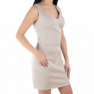 Rochie Alyson Gold - Rochie scurtă elegantă, pe corp, simte-te atrăgătoare purtând această rochie și atrage toate privirile la urmatoarea petrecere. - Deppo.ro