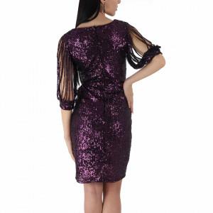 Rochie Elane Mov - Rochie elegantă cu paiete, simte-te atrăgătoare purtând această rochie și strălucește la urmatoarea petrecere. - Deppo.ro