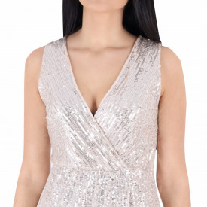 Rochie Fely Gold - Rochie scurtă cu paiete aurie simte-te atrăgătoare si misterioasă purtând această rochie și atrage toate privirile la urmatoarea petrecere. - Deppo.ro