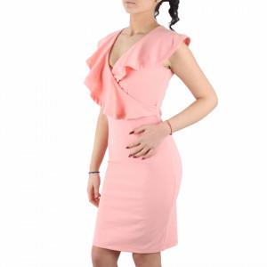 Rochie Marina Roz - Rochie roz deasupra genunchilor, fără mâneci,completează-ți ținuta și strălucește la următoarea petrecere. - Deppo.ro