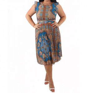 Rochie Siona Blue/Brown