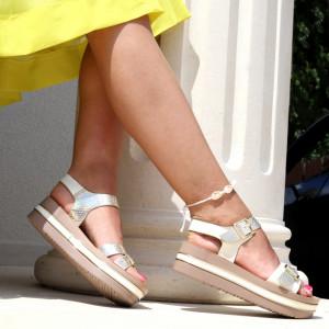 Sandale cu platformă cod Z26 Beige