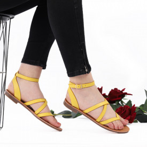 Sandale cu talpă joasă cod M34 Yellow