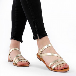 Sandale cu talpă joasă cod M38 Gold