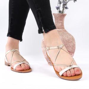 Sandale cu talpă joasă cod M39 White