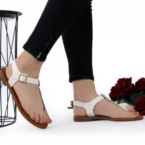Sandale cu talpă joasă cod M41 White