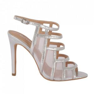 Sandale din piele ecologică cod OD0239 Silver