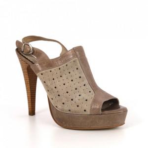 Sandale din piele naturală cod 1-1017 Beige
