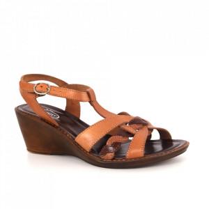 Sandale din piele naturală cod 35-04 Brown