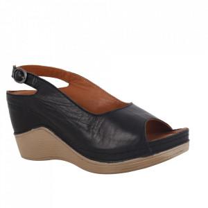 Sandale din piele naturală cod 700 Negru