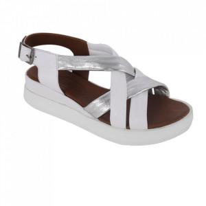 Sandale din piele naturală cod 722 White