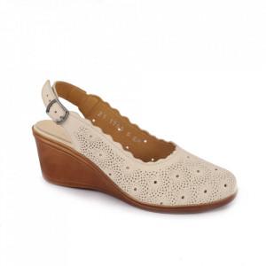 Sandale din piele naturală pentru dame cod 170593 Bej-PR-P