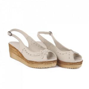 Sandale din piele naturală pentru dame cod 65706 Bej