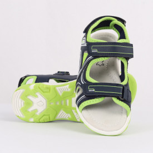 Sandale pentru băieți cod CP62 Verzi - Sandale pentru băieți cu talpă din piele naturală - Deppo.ro