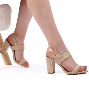 Sandale pentru dame cod 12015 Beige
