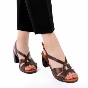 Sandale pentru dame cod 96712 Maro