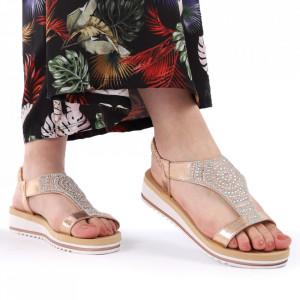 Sandale pentru dame cod B76 Champagne
