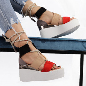 Sandale pentru dame cod JM367 Red