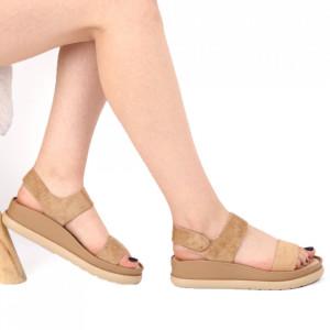 Sandale pentru dame cod LTS0259 Camel