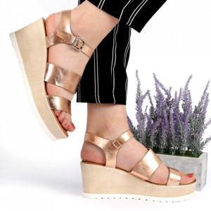 Sandale pentru dame cod SH890 Champagne