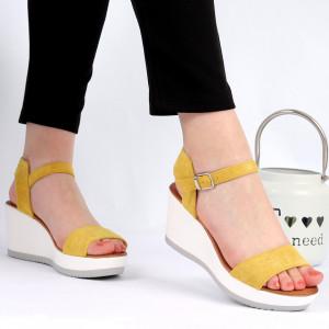 Sandale pentru dame cod SH986 Yellow