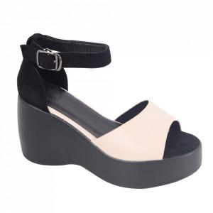 Sandale pentru dame cod X01 Beige/Black