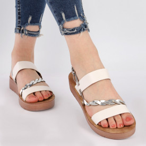 Sandale pentru dame cod Z1226 White