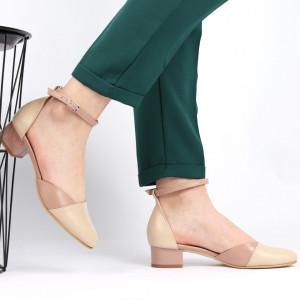 Sandale pentru dame din piele naturală cod 1213 Cafe - Sandale pentru dama din piele naturală  Închidere prin baretă  Calapod comod - Deppo.ro