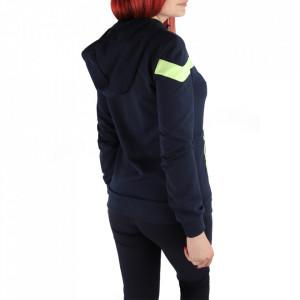 Trening pentru femei cod Redics-F04 Bleumarin cu verde - Trening pentru femei pe bleumarin, compus din haină și pantalon - Deppo.ro