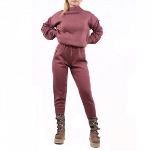 Trening tricot damă Mov - Compleu pentru femei, compus din bluză, pantalon Material ușor elastic Pantalon cu buzunareoar  laterale - Deppo.ro