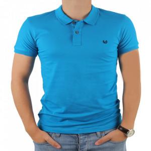 Tricou pentru bărbați cod 4002 Turkuaz
