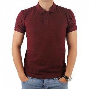 Tricou pentru bărbați cod 4002 Vișiniu