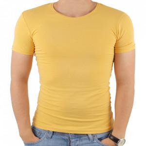 Tricou pentru bărbați cod 4101 Galben