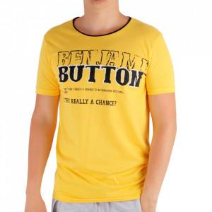 Tricou pentru bărbați Cod 6003 Yellow