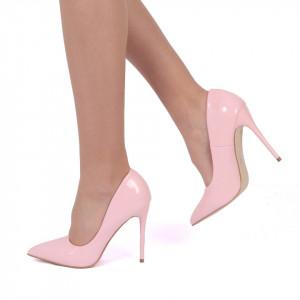 Pantofi cu toc cod EK0097 Roz
