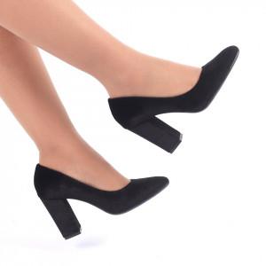 Pantofi cu toc cod C51B Negri