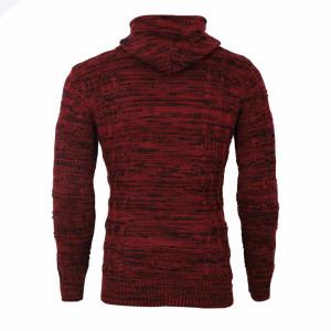 Bluză Aaron Vişinie - Bluza este cel mai versatil articol vestimentar din sezonul rece, o piesă cu reputaţie a stilului casual având compoziţia 50% lână 50% acrilic - Deppo.ro