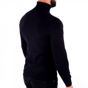 Bluză Maximilian Black - Bluza simplă este cel mai versatil articol vestimentar din sezonul rece, o piesă cu reputaţie a stilului casual având compoziţia 81% Viscoză şi 19% Nailon - Deppo.ro
